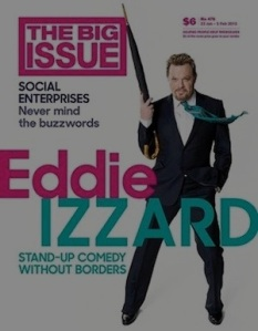 ROLLOVER The Big Issue Izzard 2015